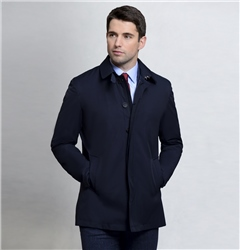 Magee 1866 Navy Delvin Classic Fit Raincoat