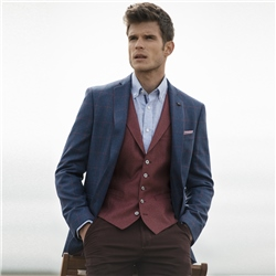 Magee 1866 Raspberry Tailored Fit Waistcoat