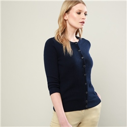 Magee 1866 Navy Beatrice Tailored Fit Cardigan