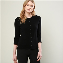 Magee 1866 Black Beatrice Tailored Fit Cardigan