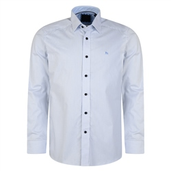 Magee 1866 Blue Striped Altahan Formal Classic Fit Shirt