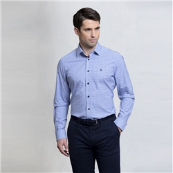 Magee 1866 Blue Checked Drumore Classic Fit Shirt