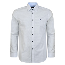 Magee 1866 White Dunaff Micro Design Tailored Fit Shirt
