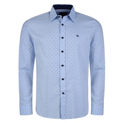 Magee 1866 Blue Dotted Lisnaree Tailored Fit Shirt