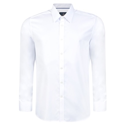 Magee 1866 White Formal Double Cuff Tailored Fit Shirt