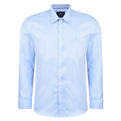 Magee 1866 Blue Formal Tailored Double Cuff Shirt