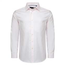 Pink Tailored Fit Formal Dress Collar Shirt