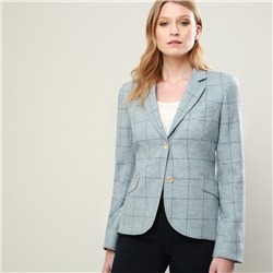 Magee 1866 Blue Checked Donegal Tweed Tailored Fit Lily Jacket