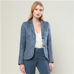 Magee 1866 Blue Lily Silk & Linen Tailored Fit Jacket