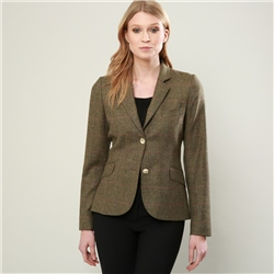 Magee 1866 Green Overcheck Lily Donegal Tweed Tailored Fit Jacket