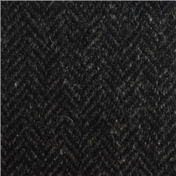 Magee 1866 Black Herringbone Flecked Donegal Tweed