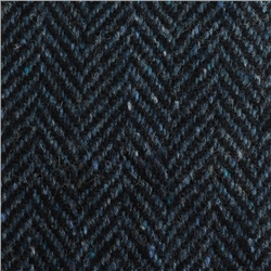 Magee 1866 Blue Herringbone Flecked Donegal Tweed