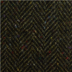 Magee 1866 Green & Navy Herringbone Flecked Donegal Tweed