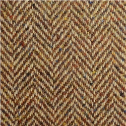 Magee 1866 Camel & Brown Herringbone Flecked Donegal Tweed