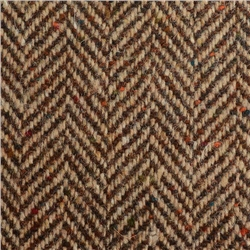 Magee 1866 Brown & Oat Herringbone Flecked Donegal Tweed