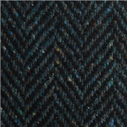 Magee 1866 Navy Herringbone Flecked Donegal Tweed