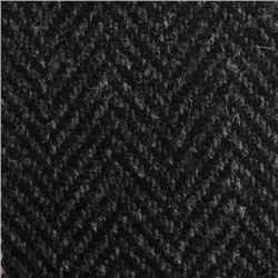 Magee 1866 Black & Grey Herringbone Donegal Tweed