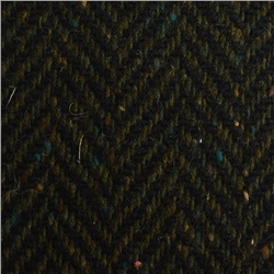 Magee 1866 Navy & Green Herringbone Donegal Tweed