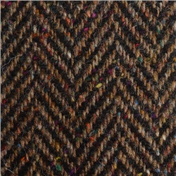 Magee 1866 Black & Brown Herringbone Flecked Donegal Tweed