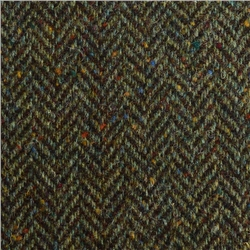 Magee 1866 Green Herringbone Flecked Donegal Tweed
