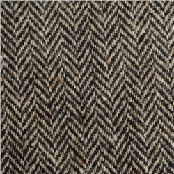 Magee 1866 Black & Oat Herringbone, Flecked Donegal Tweed