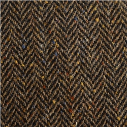 Magee 1866 Brown Herringbone Flecked Donegal Tweed