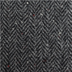Magee 1866 Black & White Herringbone, Flecked Donegal Tweed