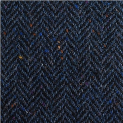 Magee 1866 Blue & Black Herringbone, Flecked Donegal Tweed