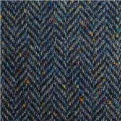 Magee 1866 Navy & Blue Herringbone, Flecked Donegal Tweed