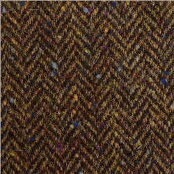 Magee 1866 Brown Herringbone With A Coloured Fleck Donegal Tweed