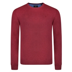 Magee 1866 Raspberry Carn Crew Neck Classic Fit Jumper