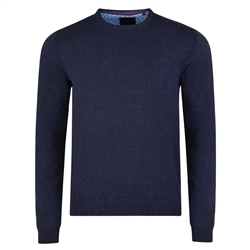 Magee 1866 Navy Carn Crew Neck Classic Fit Jumper