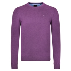 Magee 1866 Purple Carn Crew Neck Classic Fit Jumper