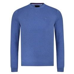 Magee 1866 Blue Carn Classic Fit Crew Neck Jumper