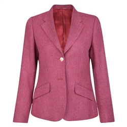 Magee 1866 Pink Alicia Herringbone Donegal Tweed Jacket