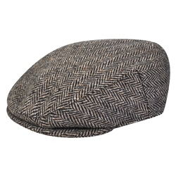Magee 1866 Brown Herringbone Donegal Tweed Flat Cap