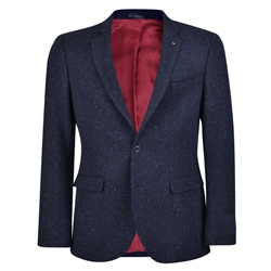 Magee 1866 Navy Handwoven Flecked Donegal Tweed Tailored Fit Jacket