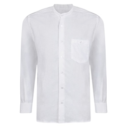 Magee 1866 White Linen Grandfather Shirt