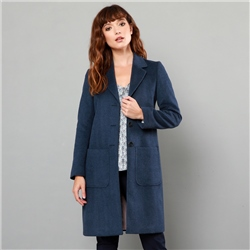 Magee 1866 Navy Emma Patch Pocket Coat