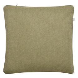 "Magee 1866 18"" Green Herringbone Wool & Cashmere Cushion"