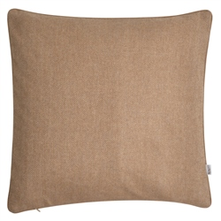 "Magee 1866 18"" Light Brown Herringbone Wool & Cashmere Cushion"