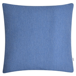 "Magee 1866 18"" Blue Herringbone Wool & Cashmere Cushion"