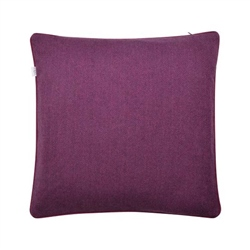 "Magee 1866 18"" Purple Herringbone Wool & Cashmere Cushion"