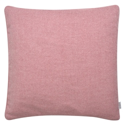 "Magee 1866 18"" Pale Pink Herringbone Donegal Tweed Cushion"