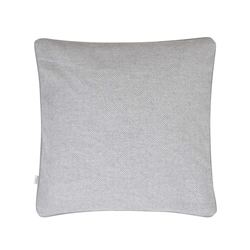"Magee 1866 18"" Light Grey Herringbone Donegal Tweed Cushion"