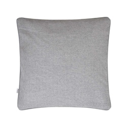 "Magee 1866 18"" Grey Herringbone Donegal Tweed Cushion"