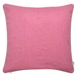 "Magee 1866 18"" Pink Herringbone Donegal Tweed Cushion"