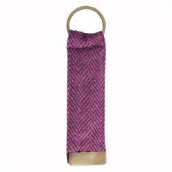 Magee 1866 Purple Herringbone Donegal Tweed Keyring