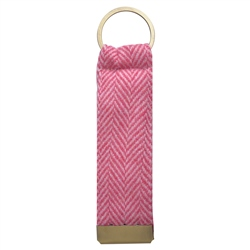 Magee 1866 Pink & Oat Herringbone Donegal Tweed Keyring