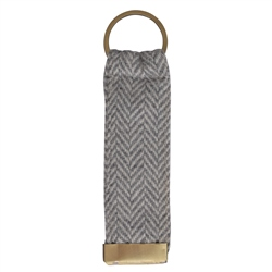 Magee 1866 Grey Herringbone Donegal Tweed Keyring